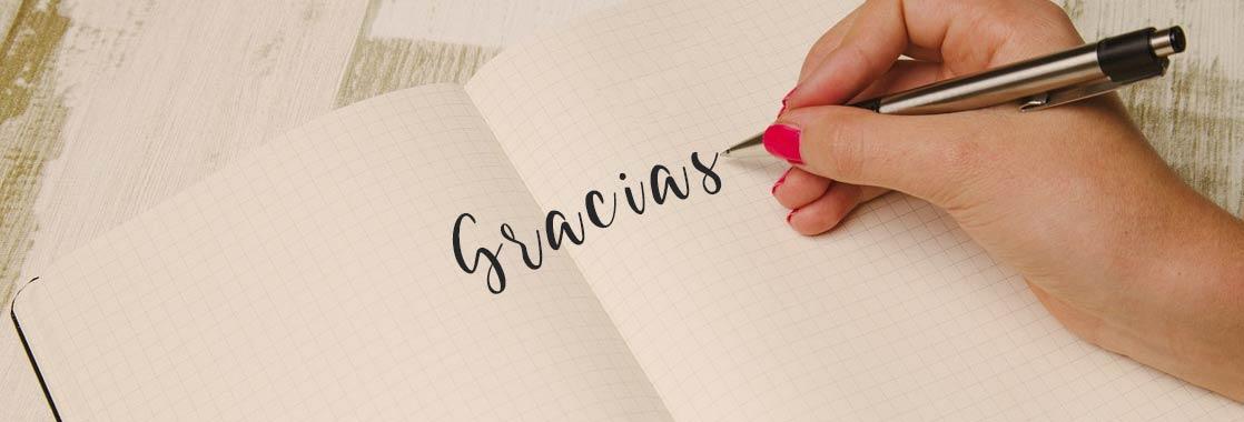 como hacer una carta de agradecimiento