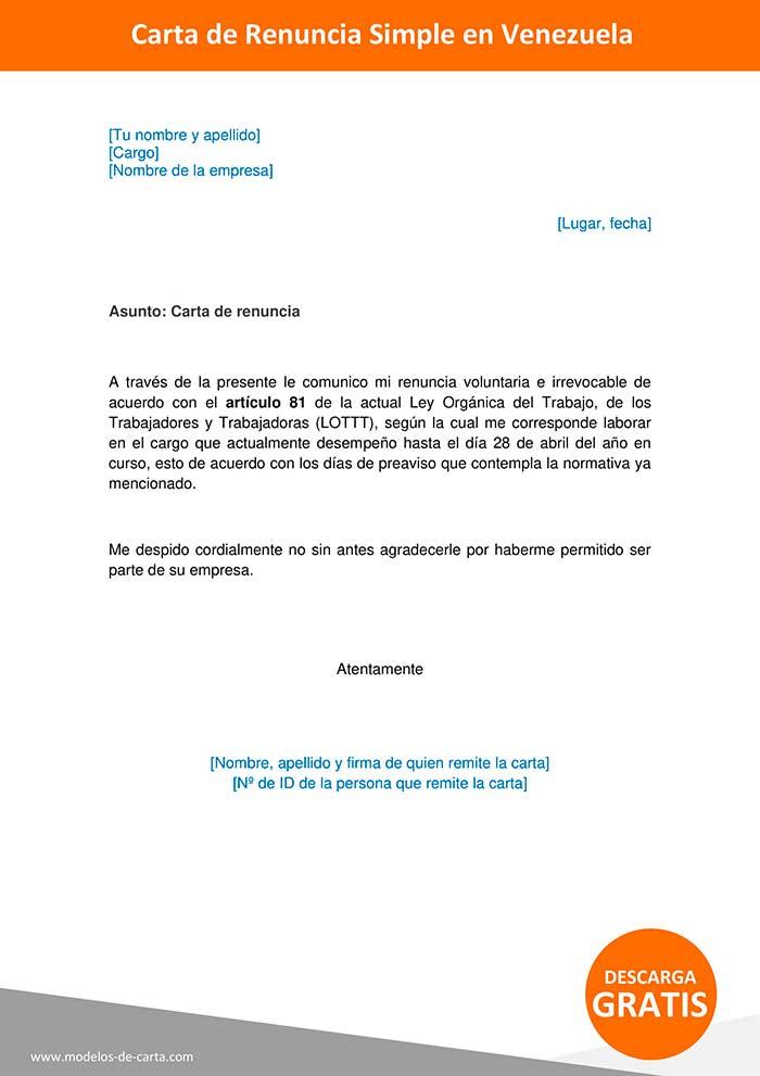 modelo-de-carta-de-renuncia-venezuela